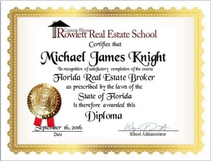 Broker Wall Diploma