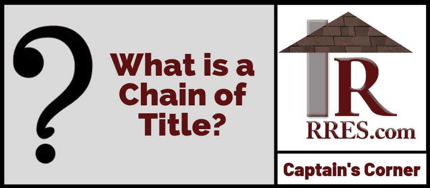 RRES.com What is a Chain of Title_