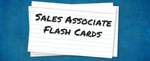 Sales Associate Flash Cards